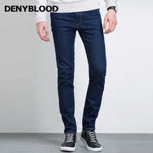 Denyblood Jeans 2017 Spring Fashion Mens Jeans Pants Red Selvage Denim High Quality Slim Straight Original Blue Trousers 728720