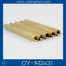 Free shipping M2*31mm cctv camera isolation column 100pcs/lot Monitoring Copper Cylinder Round Screw.CY-M2*31mm