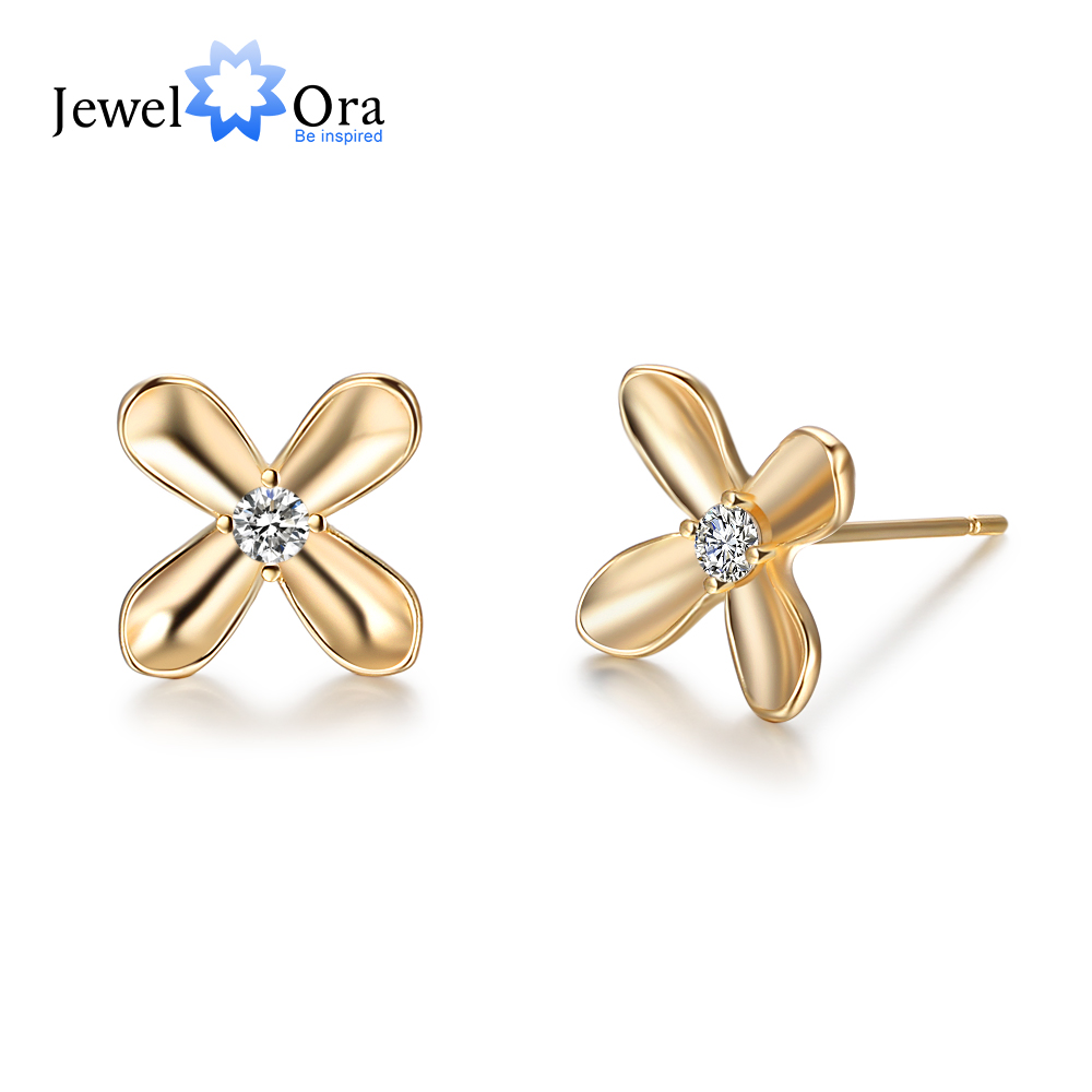 Fashion Woman Fancy Earrings Set 2018 Gold-Color Flower Stud Earrings Decorations Ladys Earring Trendy jewelery Anniversary