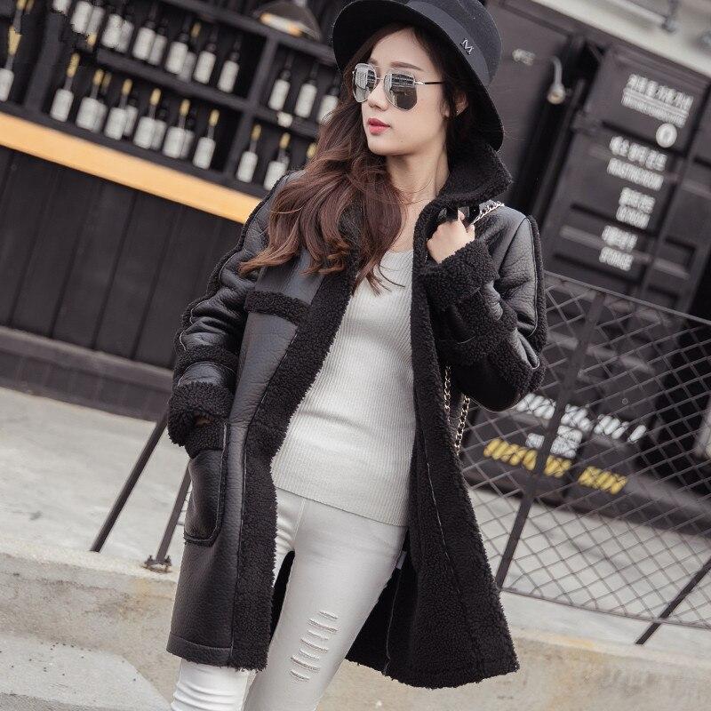 Coat Women Suede Lamb Wool Jacket Manteau Femme Womens Winter Jackets Long Parka Winter Coat Women Ukraine Cotton Coats C2578
