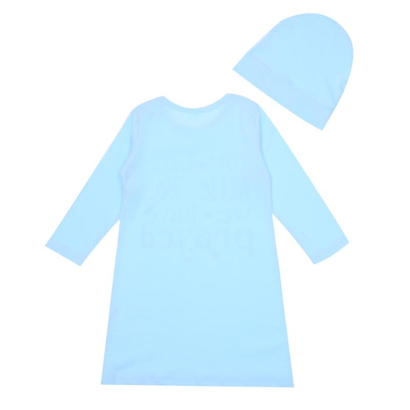 2pcs/Set Baby Sleeping Bag Cotton Letter Print Long Sleeve Sleepsacks + Hat Swaddle Wrap Blanket Sleepwear Robes Sleep Bag