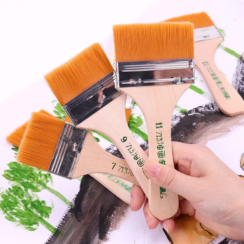 6 стилей масла Кисти для акварели нейлон волос художественная кисть легко моется деревянная Чистящая Щетка товары для рукоделия