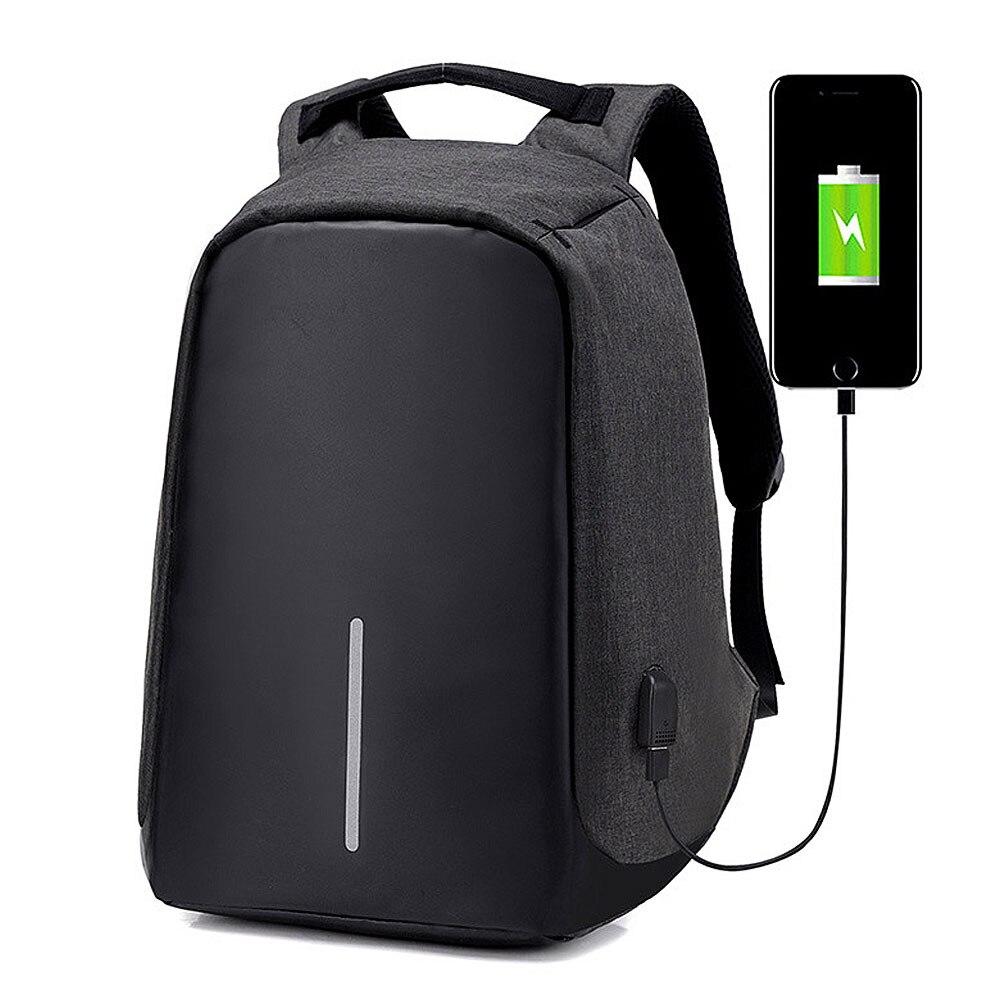 Anti-theft Backpack Camping Backpack Zipper Sport Bags USB Charge Laptop Knapsack Tactical Bag Waterproof Rucksacks 3502080 canemu anti theft simulator