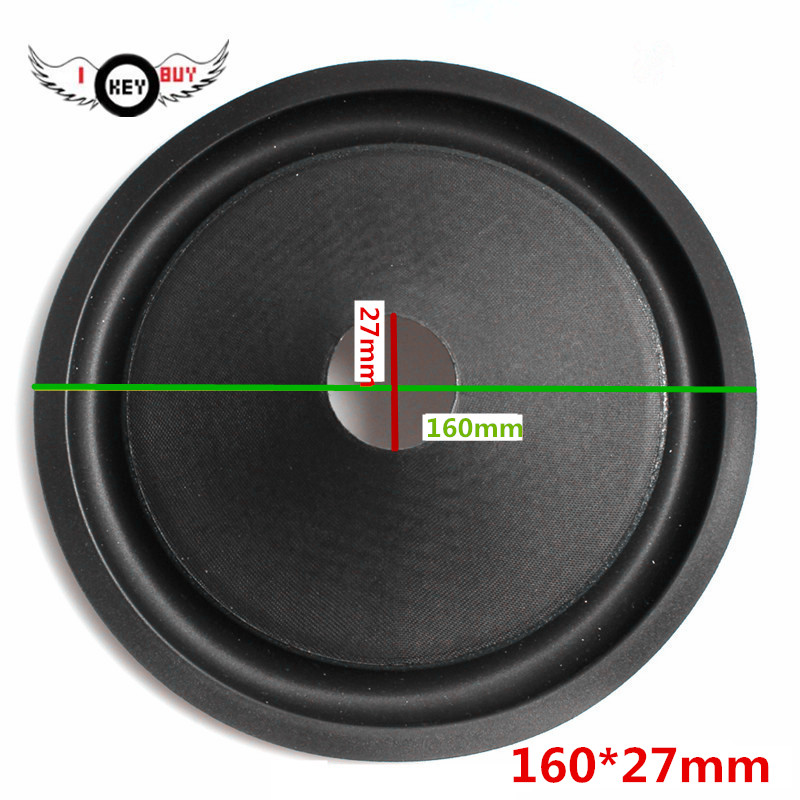 2 Pcs 6 6.5 Inch Corrugated Speaker Paper Cone Drum Paper Foam Edge 27 MM Core 160 MM Middle Woofer Accessories