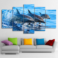 100% 5pcs diamond painting The sea 3 dolphins Hanging on the wall 5d DIY full round & square embroidery wedding decoration gifts