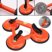 Aluminum Alloy Vacuum Suction Plate Lifter Heavy Duty 3 Suction Cup Triple Pad Sucker Plate Glass Tile Lifter Repair Tool