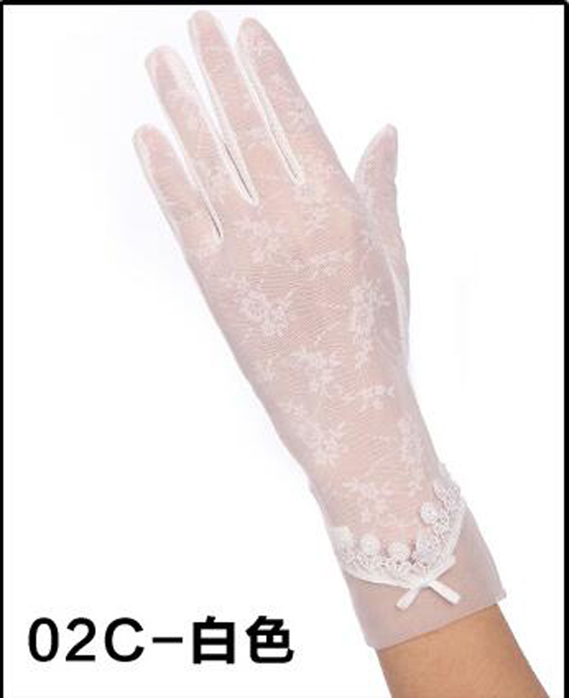 HTB1VNDHRFXXXXaAXpXXq6xXFXXX9 - Sexy Summer Women UV Sunscreen Short Sun Female Gloves Fashion Ice Silk Lace Driving Of Thin Touch Screen Lady Gloves G02E