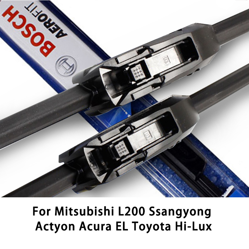 2pieces/set Bosch Wiper Blades For Mitsubishi L200 Ssangyong Actyon Acura EL Toyota Hi-Lux 21&19 Fit Hook Arms