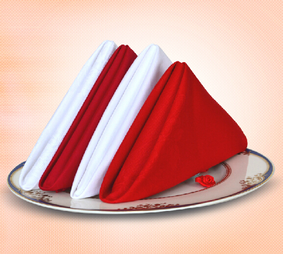 Logical High Quality Cotton Hotel Table Napkin High Density Red And White Cotton Napkin Chinese And Western Restaurants Napkin