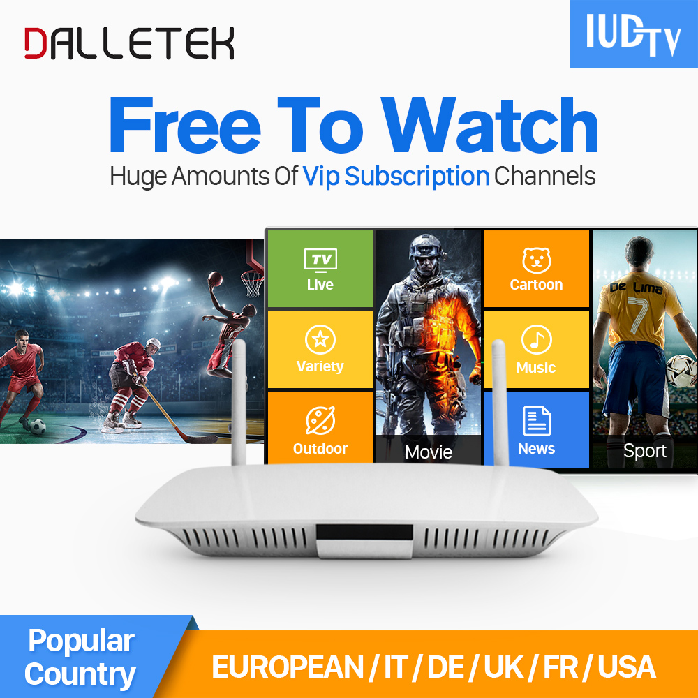 купить Dalletektv Q1404 Android Tv Box Quad Core Android Iptv Box 6 Months Free Iptv Subscription Italy Spain French Indian Netherlands недорого