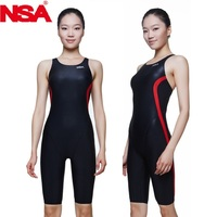 2014 New NSA Competition Italy Fabric Knee Length Women S Training Racing Swimwear One Piece Swimsuits
