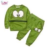 LZH Boys Clothes 2017 Autumn Winter Baby Girls Clothes T Shirt Pants 2pcs Outfits Kids Clothes