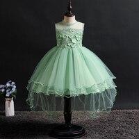 Новое платье для девочек платье из сетки для принцессы праздничное платье для девочек вечерние платья с длинными рукавами для сцены на день...