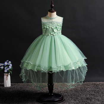 9ba6dd10 Новое платье для девочек платье из сетки для принцессы праздничное платье  для девочек вечерние платья с длинными рукавами для сцены на день.