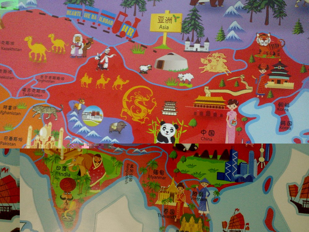 Aliexpresscom  Buy large cartoon world map wall stickers for