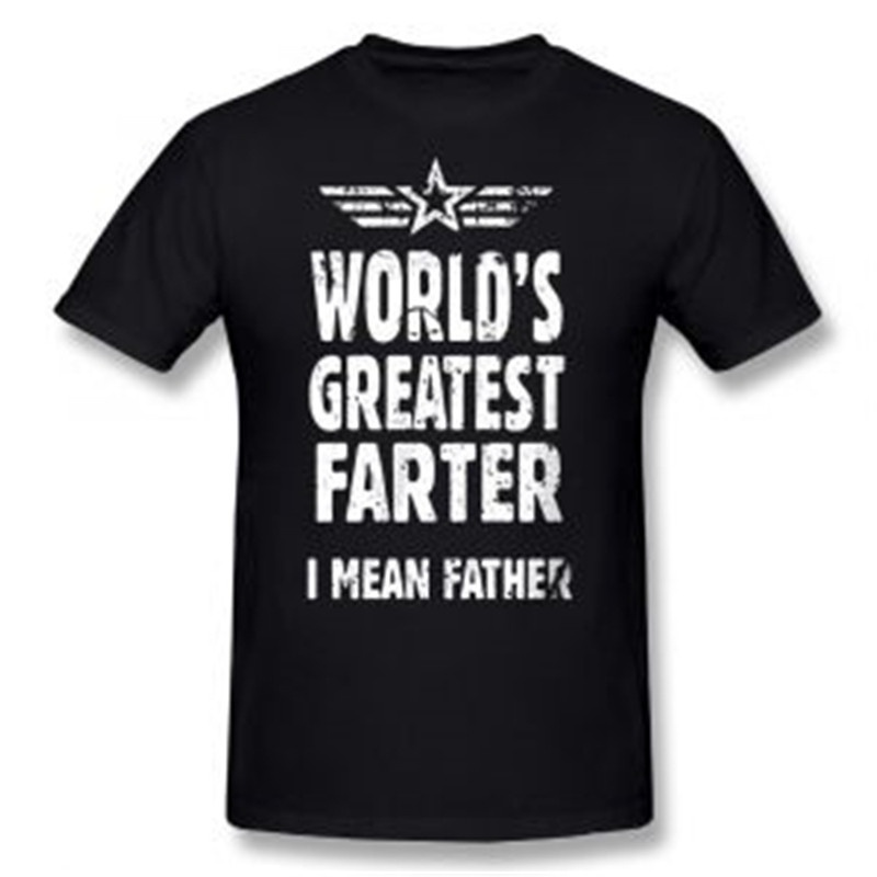 Mens Worlds Greatest Father Casual Farter T Shirt Funny Dad Gifts For Fathers Day Tops Tshirt Homme