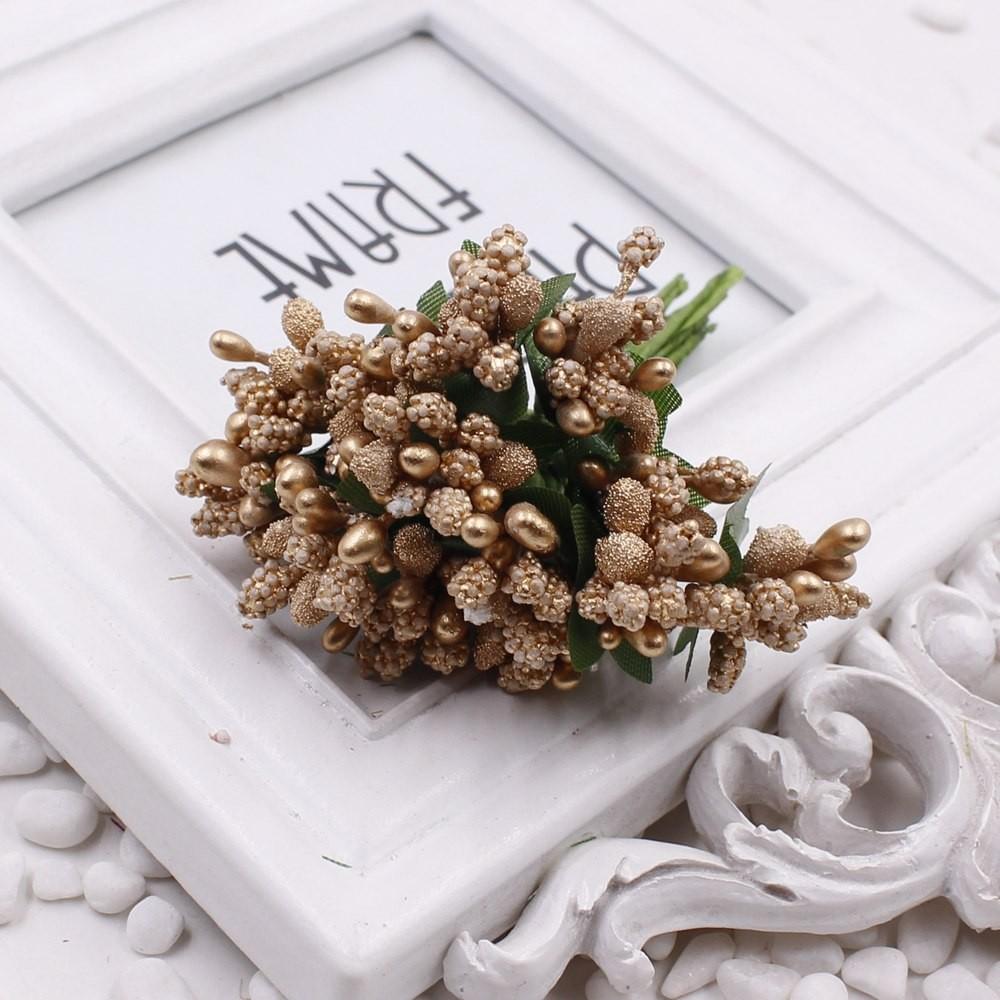 16 12pcs Berry Artificial Stamen Handmade Flower For Wedding Home Decoration Pistil DIY Scrapbooking Garland Craft Fake Flower 7