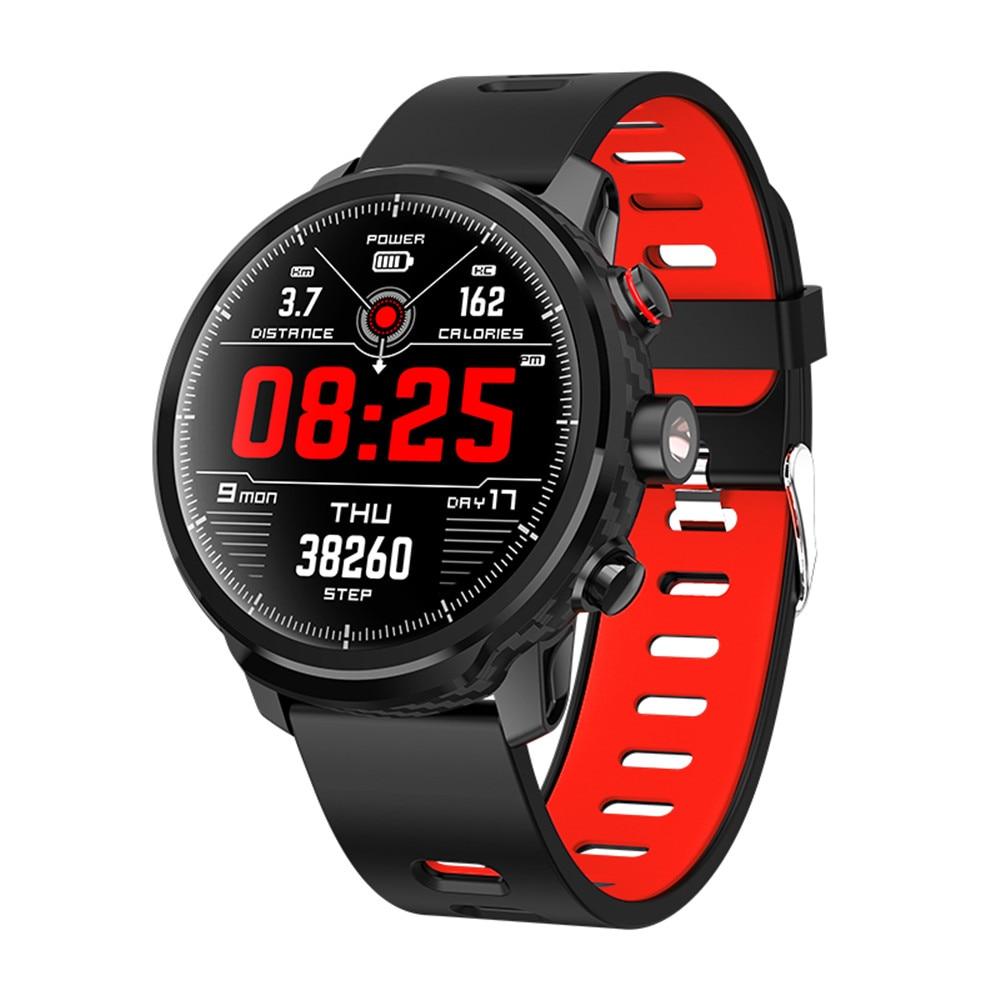Neue L5 Smart Uhr Männer IP68 Wasserdicht Mehrere Sport Modus Herz Rate Wetter Prognose Bluetooth Smartwatch Standby 100 Tage
