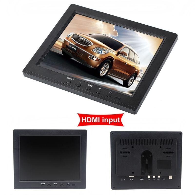 EYOYO 8 inch Portable Digital HD TFT LCD Monitor VGA BNC Video Audio DVR HDMI Input B01 Monitor For Video Surveillance EYOYO