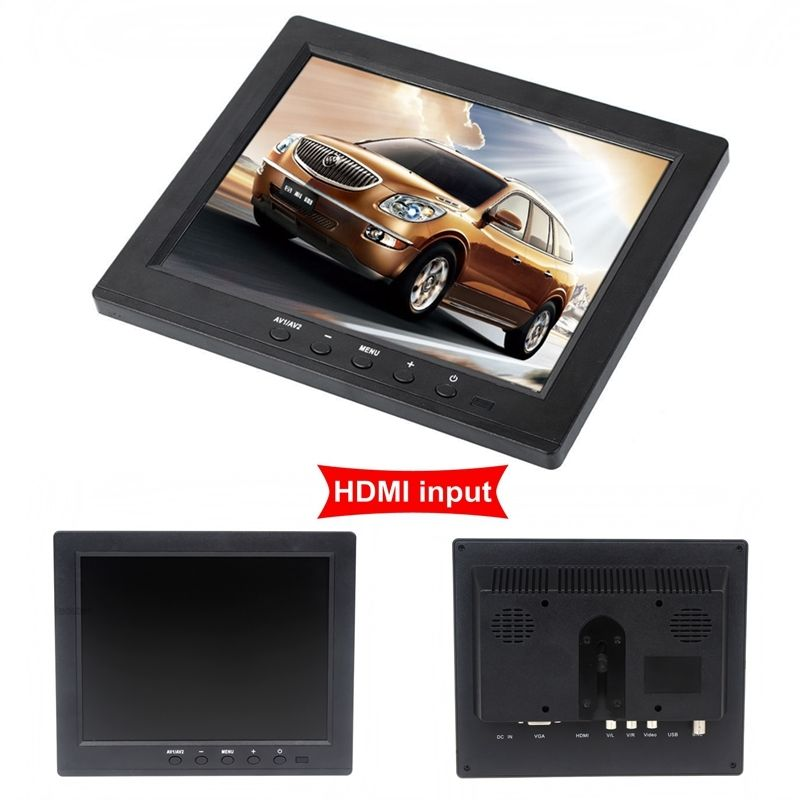 EYOYO 8 inch Portable Digital HD TFT LCD Monitor VGA BNC Video Audio DVR HDMI Input B01 Monitor For Video Surveillance цена и фото