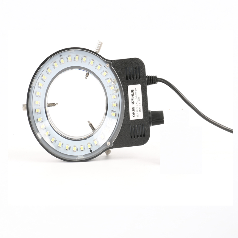 48 LED USB output Adjustable Ring Light illuminator Lamp For Industry Stereo Microscope Industrial Camera Magnifier in Microscope Parts Accessories from Tools