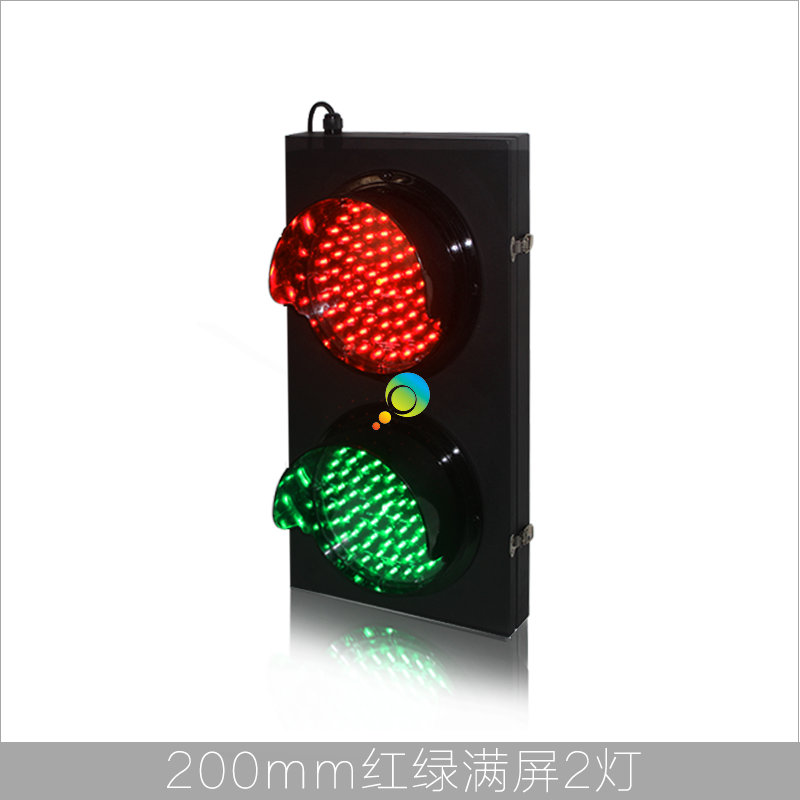 New Arrival Customzied Design 200mm Red Green Cold-rolled Plate Parking Lots Traffic Signal Light