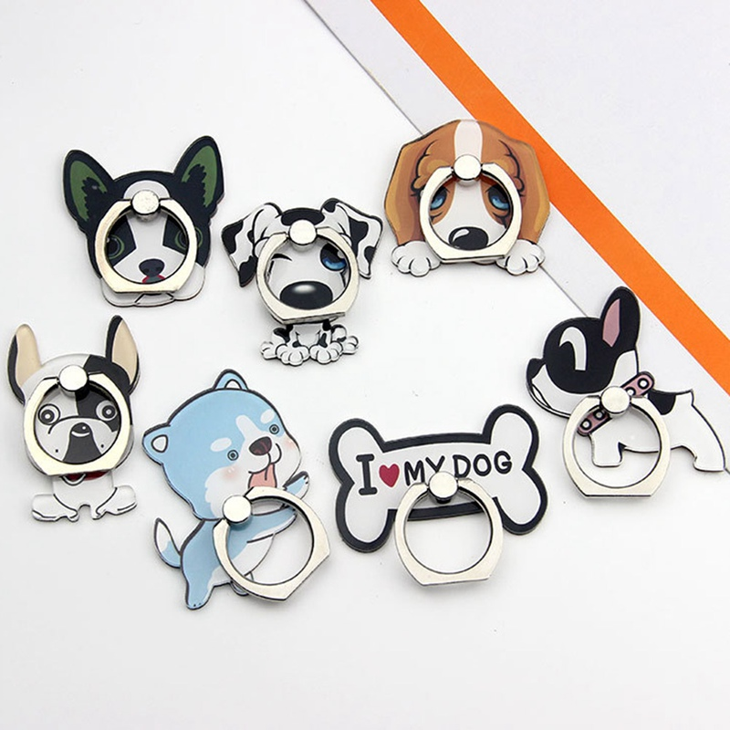 Mobile Phone Stand Holder Husky Dog Finger Ring Mobile Smartphone Holder Stand For IPhone Xiaomi Huawei All Phone
