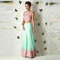 India Fashion Women Skirt A Line Floor Length Maxi Skirt Custom Made Tulle Satin Joint Long Skirt New Style