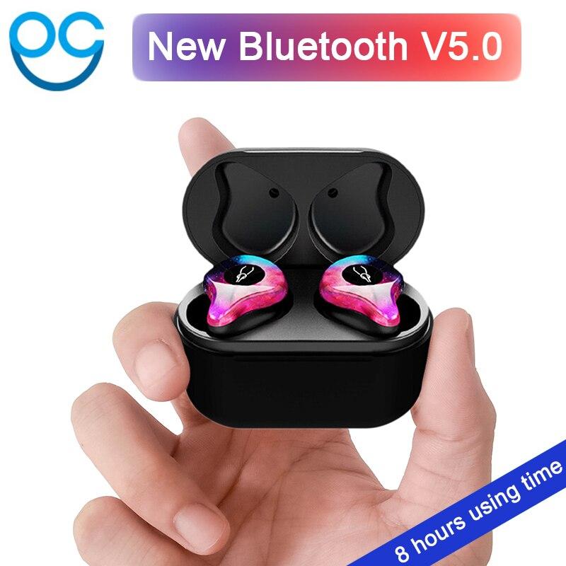 Professionelle Twins Mini 3D Stereo Sound V5.0 Bluetooth Kopfhörer Unsichtbare Wahre Drahtlose Wasserdichte Sport Ohrhörer mit Power bank