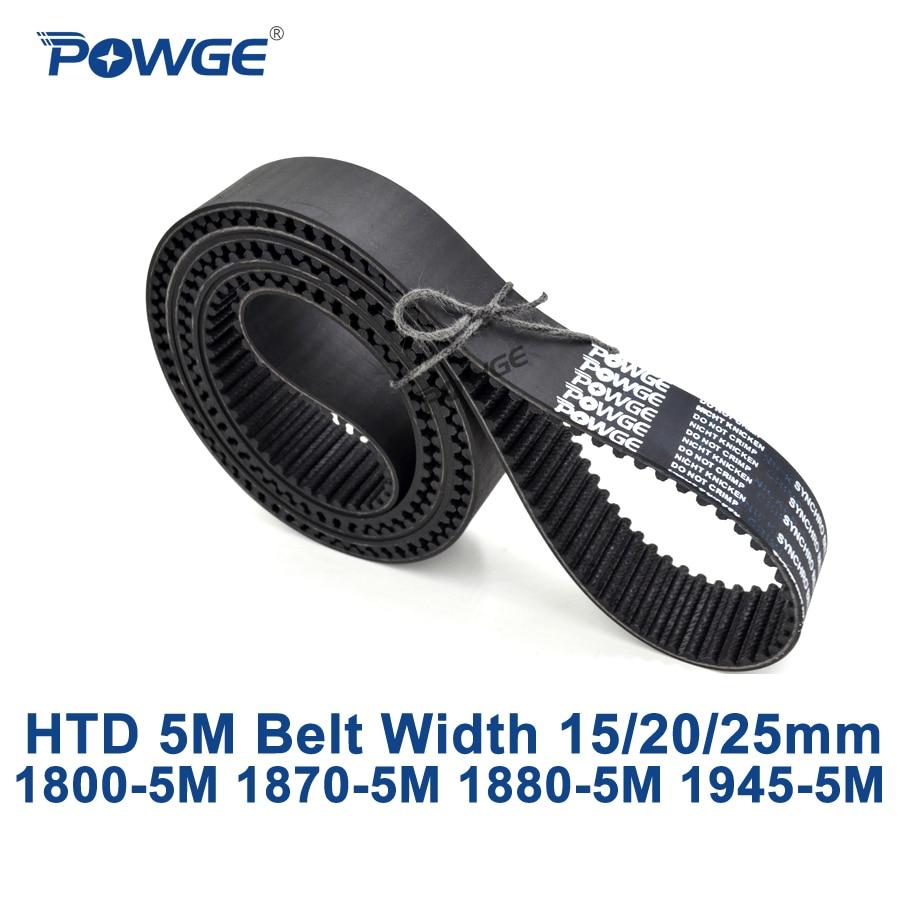 HTD 5 M correia dentada síncrona POWGE C = 1800/1870/1880/1945 largura 15/20/25mm Dentes HTD5M 360 374 376 389 1800-5 M 1870-5 M 1945-5 M