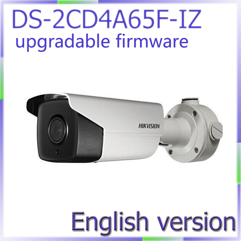 Free shipping English Version DS-2CD4A65F-IZ 6MP Smart IP Outdoor Bullet network Camera Support 64G on-board storage free shipping ds 2cd4665f iz english version 6mp smart ip vandal proof bullet camera support upgrade