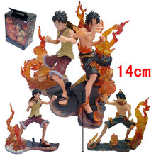 One Piece Luffy VS Ace 2pcs/set Japanese Anime Cartoon 2 Years Later PVC Action Figure Toys Dolls15CM A232