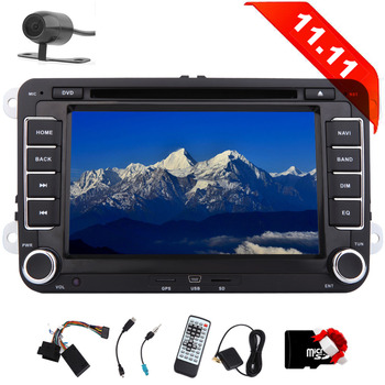 forTiguan T5 for Skoda for Seat with Backup Camera EinCar Double din 7 inch Car Stereo Radio Unit in Dash Car DVD Player GPS Nav