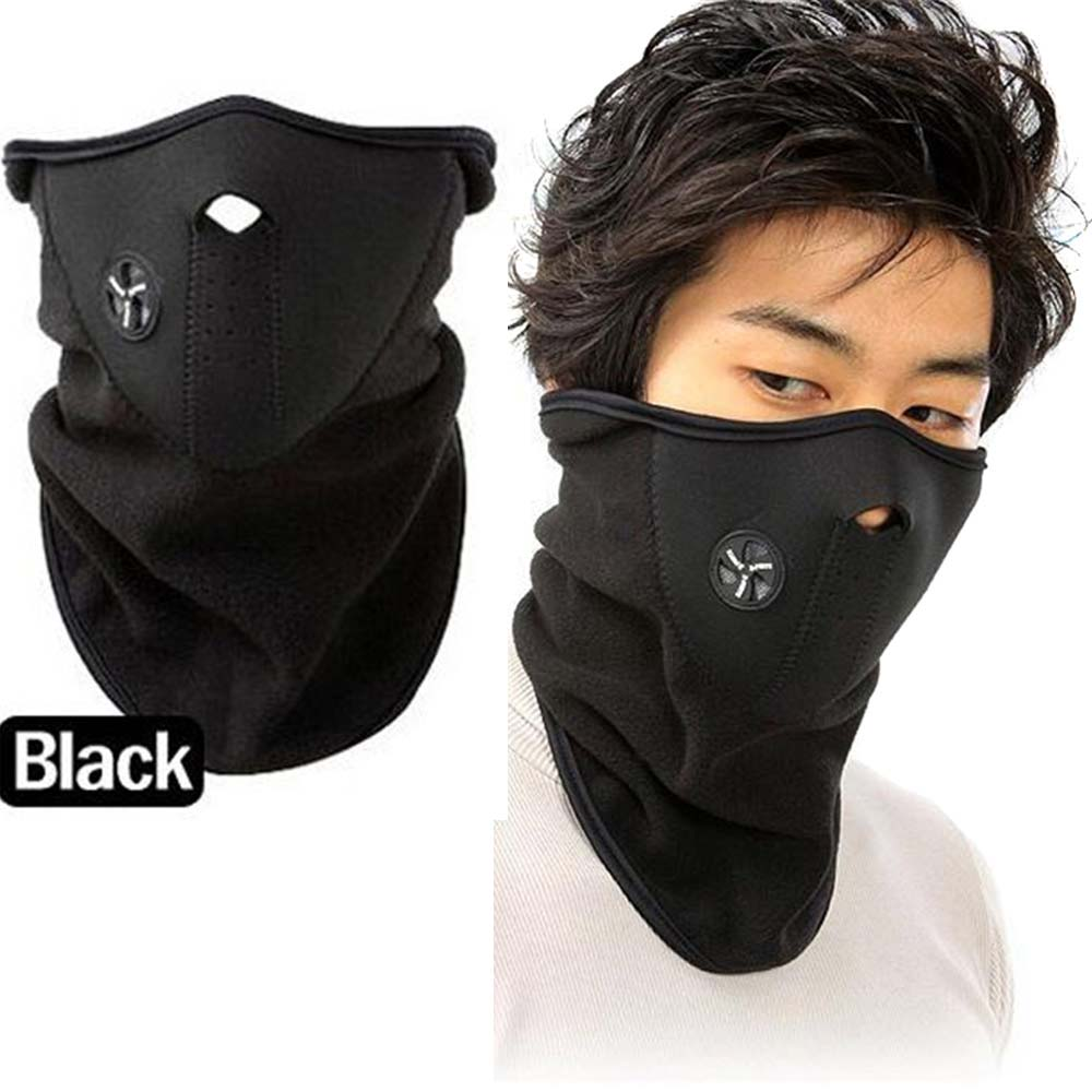 Cap Bicyle Hat Winter Motorcycle Outdoor Cycling Windproof Ski Hood Thermal Sports Fleece Scarf Warm Neck Snowboard Face Mask