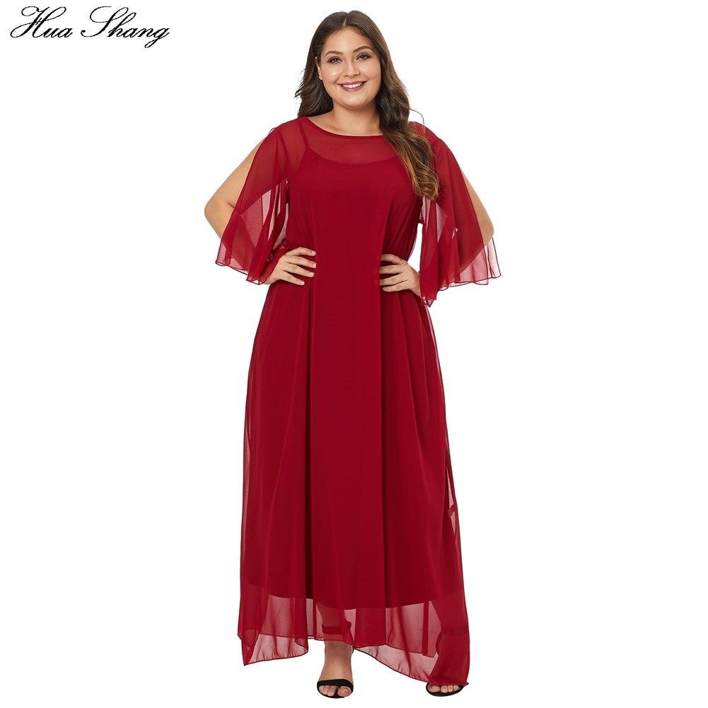 bf6815d8577 La Manches Longue D été Robes Pièces Robe Ensemble rouge Half Deux Plus  Taille Femmes Tunique Plage De Split Noir Maxi ...