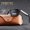 Eyecrafters Fashion Vintage Mens Womens Polarized Sunglasses UV400 Driving Mirrored Square Retro Sunglasses Eyewear EC2140