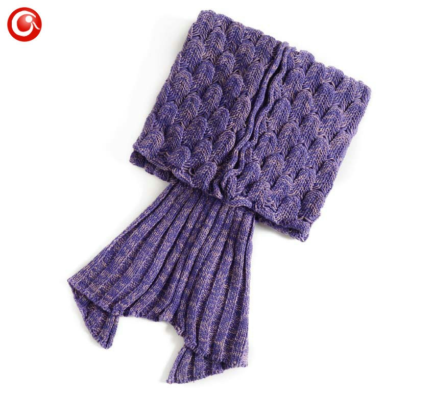 Baby Knitted Crochet Mermaid Blanket For Mother&Baby Infant Newborn Handmade Bed Wrap Throw Sleeping Bag Soft (8)