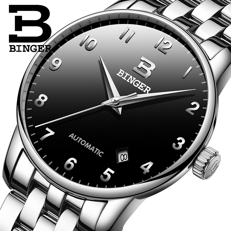 Switzerland BINGER Mens Watches Top Brand  Luxury Business Mechanical Wristwatches Auto Date Mens Watch  Relogio Masculino 2019Switzerland BINGER Mens Watches Top Brand  Luxury Business Mechanical Wristwatches Auto Date Mens Watch  Relogio Masculino 2019