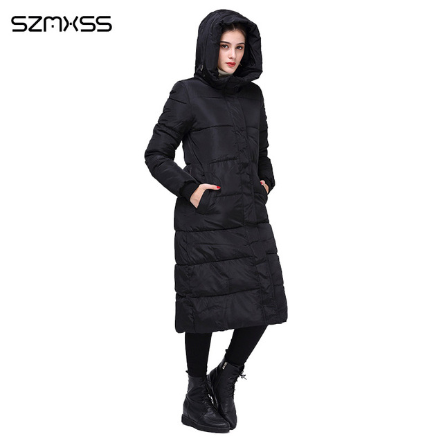 2018 new winter parka women fashion trend Slim cotton coat and long hooded solid color warm cotton clothing long sleeve mujer 4