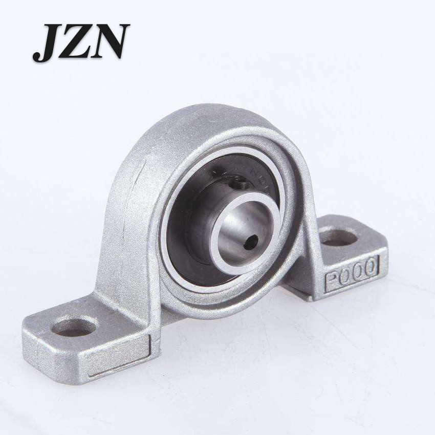 2Pcs Zinc Alloy Ball Bearing Housing Pillow Block Shaft Support KP08 KP000 KP001 KP002 KP003  Bearing Pedestal Seat