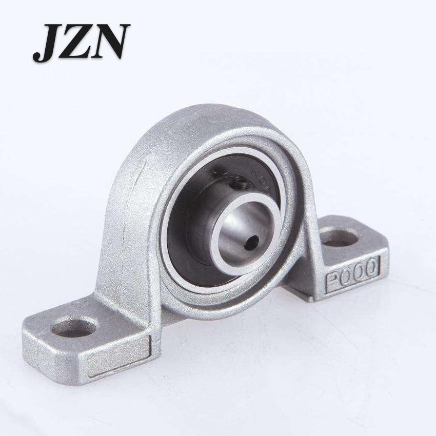 2Pcs Zinc Alloy Ball Bearing Housing Pillow Block Shaft Support KP08 KP000 KP001 KP002 KP003  Bearing Pedestal Seat