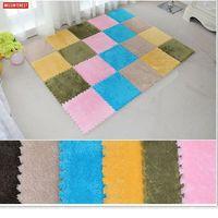 Missinterest Puzzle Carpet Baby Play Mat Floor Puzzle Mat EVA Children Foam Carpet Mosaic Floor Suede