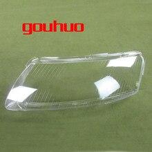 2 個ヘッドランププラスチックシェルシェードヘッドライトカバーガラスヘッドランプシェルレンズため 06 11 アウディ A6 A6L C6