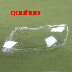 Image 1 - 2 pcs 헤드 램프 플라스틱 쉘 전등 갓 헤드 라이트 커버 유리 헤드 램프 쉘 렌즈 06 11 아우디 a6 a6l c6