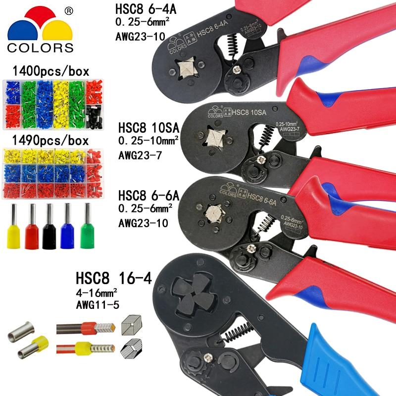 Details about  /HSC8 6-4A//6-6 MINI-TYPE SELF-ADJUSTABLE CRIMPING PLIER 0.25-10mm2 Terminals