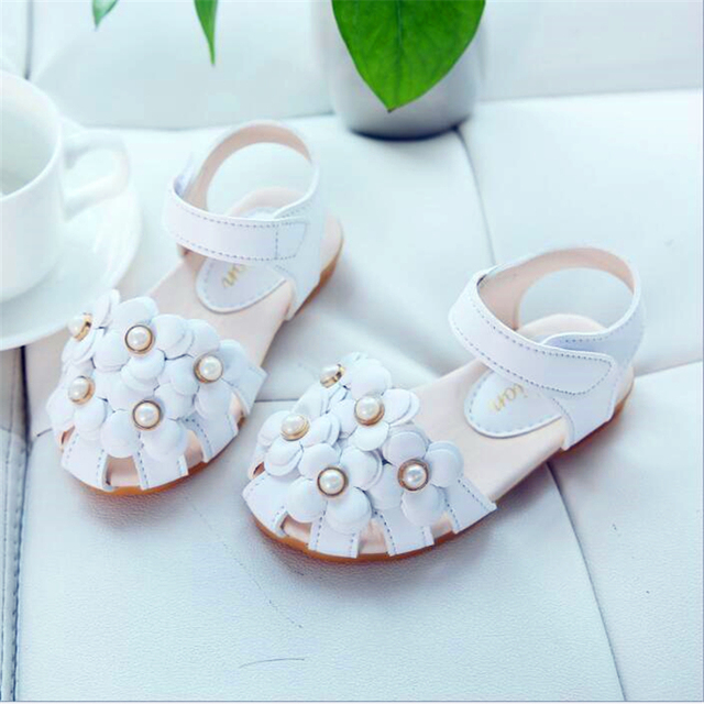 24cc47bde Sandals Girls fashion flowers ladies princess orthopedic sandals Baotou  leisure non - slip soft sandals hot girls shoes toddler