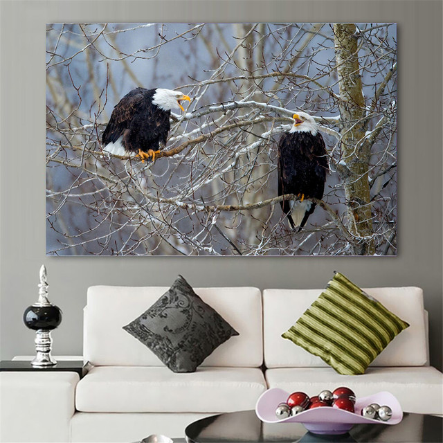 Home Decor Wall Pictures For Living Room Eagles Tree Branch Paintings Critters Canvas Art Poster Prints