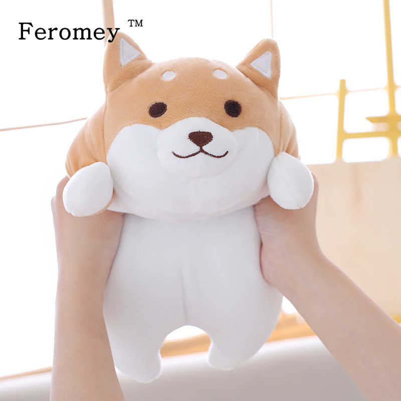 Gordo bonito Dog Plush Doll Toy Kawaii Shiba Inu Cão Filhote de cachorro Macio Stuffed Animal Dos Desenhos Animados Travesseiro Brinquedo de Presente Para As Crianças bebê Crianças