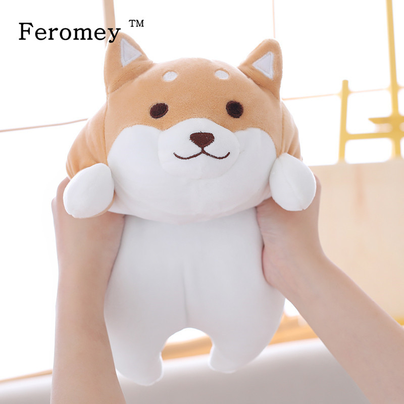 35/55cm Fat Shiba Inu Dog Plush Doll Toy Kawaii Puppy Dog Shiba Inu Stuffed Doll Cartoon Pillow Toy Gift For Kids Baby Children(China)