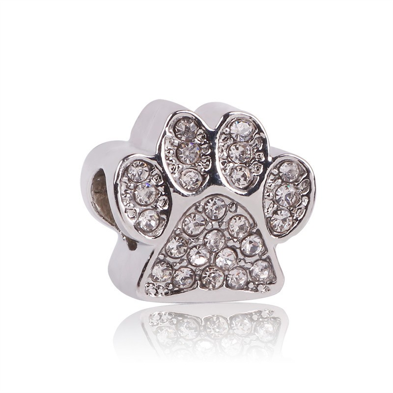 AIFEILI Silver Color Bead Paw/Fairytale Treasure/Opulent Heart Charm Fit Original Pandora Charms Bracelet DIY Jewelry